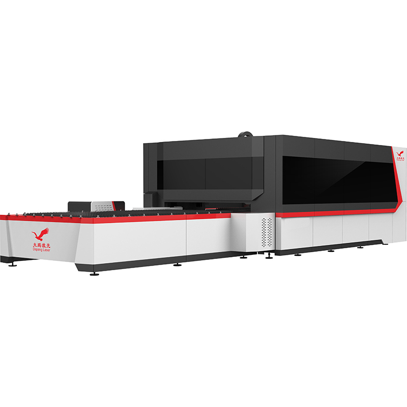 Full Enclosure Cover Fiber Laser Cutting Machine with Pallet Changer