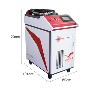 Handheld laser welding machine with wire feeder